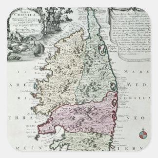 Map of Corsica Square Sticker