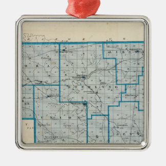 Map of Crawford County Christmas Ornament