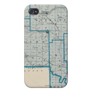 Map of Crawford County iPhone 4 Cover