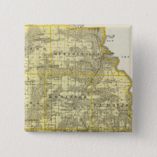 Map of Crawford County, Robinson 15 Cm Square Badge