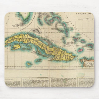 Map Of Cuba And The Bahama Islands Mouse Mat