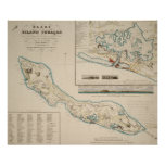 Map of Curaçao 1836 Poster