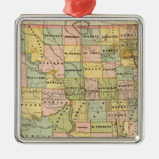 Map of Dakota Christmas Ornament