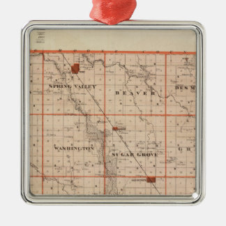 Map of Dallas County, State of Iowa Christmas Ornament