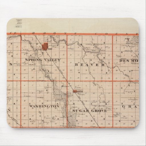 Map of Dallas County, State of Iowa Mousepads
