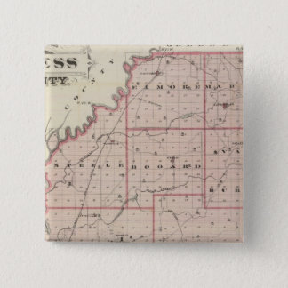 Map of Daviess County 15 Cm Square Badge