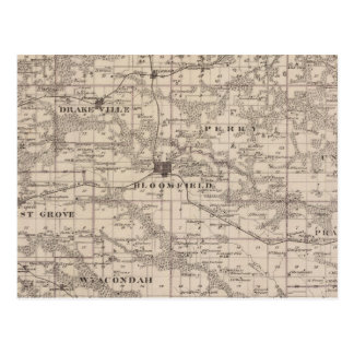 Map of Davis County, State of Iowa Postcard