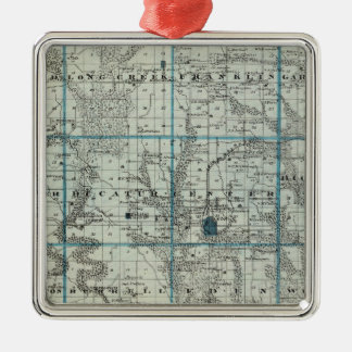 Map of Decatur County, State of Iowa Christmas Ornament