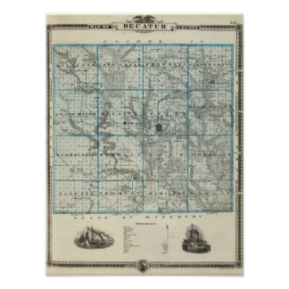 Map of Decatur County, State of Iowa Poster