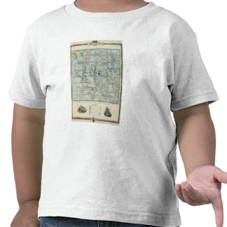 Map of Decatur County State of Iowa Tee Shirt