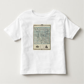 Map of Decatur County, State of Iowa Toddler T-Shirt