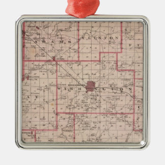 Map of Decatur County with St Omer Christmas Ornament