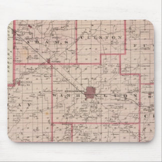 Map of Decatur County with St Omer Mouse Mat
