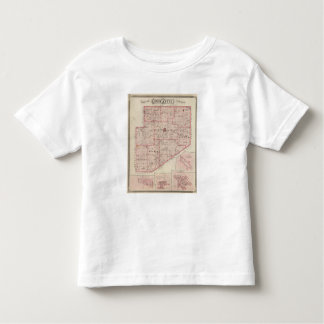 Map of Decatur County with St Omer Toddler T-Shirt