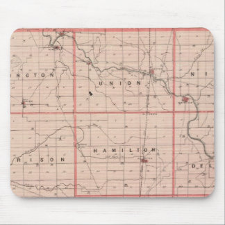 Map of Delaware County Mouse Mat