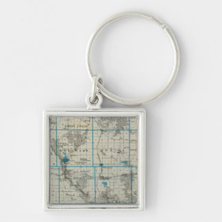 Map of Delaware County, State of Iowa Key Ring