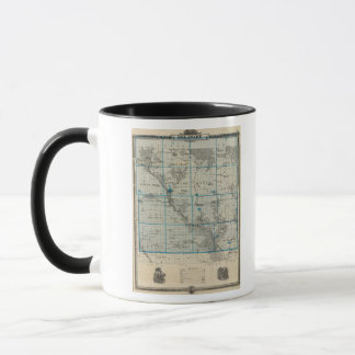 Map of Delaware County, State of Iowa Mug