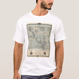 Map of Delaware County, State of Iowa T-Shirt
