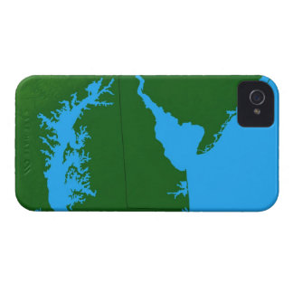 Map of Delaware iPhone 4 Case-Mate Cases