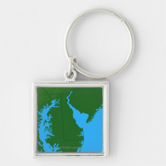 Map of Delaware Key Ring