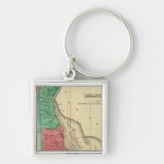 Map Of Delaware Key Ring