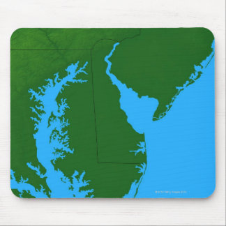 Map of Delaware Mouse Mat