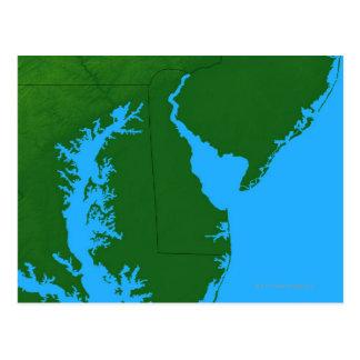 Map of Delaware Postcard