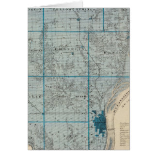 Map of Des Moines County, State of Iowa Greeting Card
