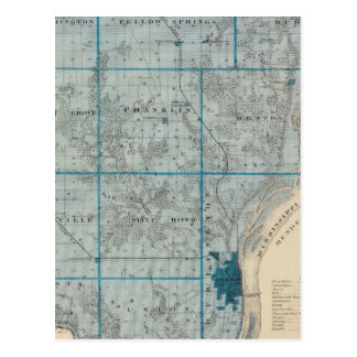 Map of Des Moines County, State of Iowa Postcard