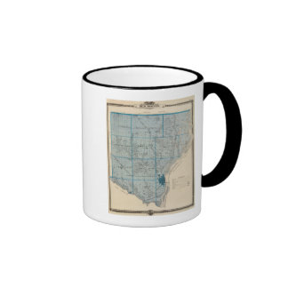 Map of Des Moines County, State of Iowa Ringer Mug