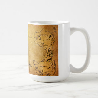Map of Destin Basic White Mug