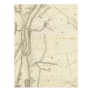 Map of Detroit River Postcard