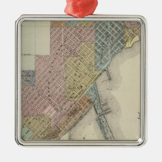Map of Duluth, St. Louis County, Minnesota Christmas Ornament