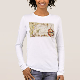 Map of East Africa and Madagascar, 1596 (hand colo Long Sleeve T-Shirt