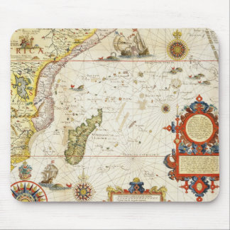 Map of East Africa and Madagascar, 1596 (hand colo Mouse Mat