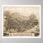 Map of East Boston, Massachusetts in 1879 Poster
