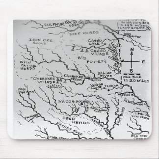 Map of East Texas 1836 Mouse Pads