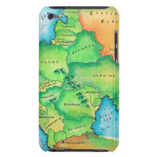 Map of Eastern Europe Barely There iPod Cases