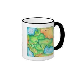 Map of Eastern Europe Coffee Mug