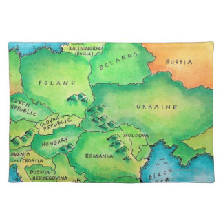 Map of Eastern Europe Placemat