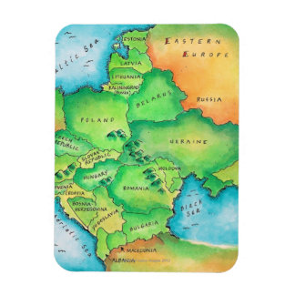Map of Eastern Europe Rectangular Photo Magnet