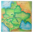 Map of Eastern Europe Tile