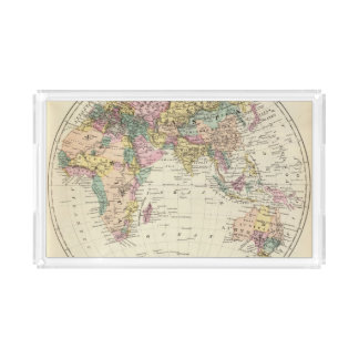 Map of Eastern Hemisphere Acrylic Tray