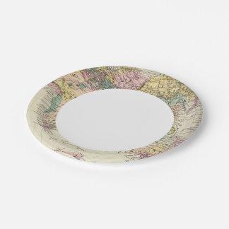Map of Eastern Hemisphere Paper Plate
