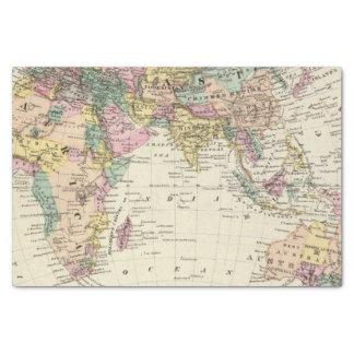 Map of Eastern Hemisphere Tissue Paper