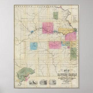Map of Eastern Kansas Poster