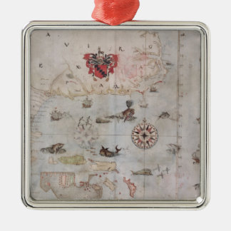 Map of Eastern North America Christmas Ornament