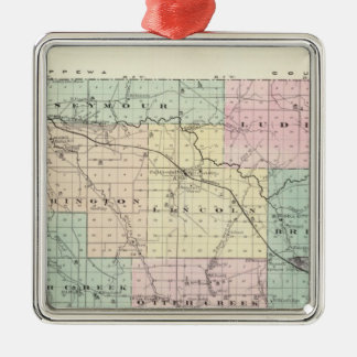 Map of Eau Claire County, State of Wisconsin Christmas Ornament