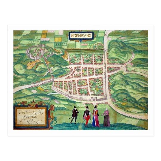 Map of Edinburgh, from 'Civitates Orbis Terrarum'