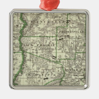 Map of Edwards & Wabash counties and Albion Christmas Ornament